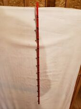 Hanging Chip & Snack Display Rack - 1 Round Strip 12 Clip (red)