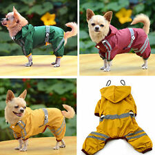Dog Rain Coats Waterproof Pet Outdoor Winter Jacket Reflective Puppy hoodie UK