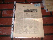 MORRIS MINOR  MOTOR TRADER SERVICE INFORMATION SHEETS. FREE U.K. POST.