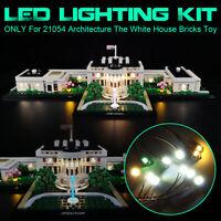 LED Light Lighting Kit Fit For LEGO 21054 Architecture The White House Bricks