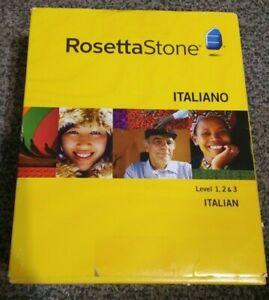 Rosetta Stone Italiano Italian Version 3 Levels 1 2 3 1-3 Cd-Rom