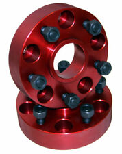 """Red 1.25"""" Wheel Spacers 5 On 4.5 for Jeep Wrangler TJ 97-06  11301 Alloy USA"""