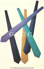 PUBLICITE GUCCI Les Cravates    2003