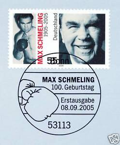 Frg 2005: Max Schmeling No. 2489 With The Bonner First Day Special Cancellation