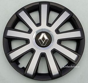 "Brand New black/silver 16"" wheel trims to fit Renault Trafic,Laguna,Scenic"