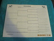 Wire Fox Terrier Body Blank Pedigree Sheets Pack 10