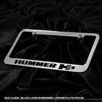 For Hummer Humvee H3 Chrome Black Cast Zinc Metal License Plate Frame Cap Cover
