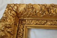SM DEEP ANTIQUE FITS 5 X 7 GOLD PICTURE FRAME WOOD GESSO ORNATE FINE ART COUNTRY
