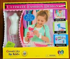 Girls Ultimate Fashion Designer Studio Kit No Complicated Sewing Draw Create Nib