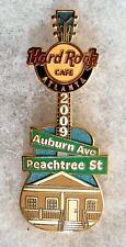 HARD ROCK CAFE ATLANTA AUBURN AVENUE & PEACHTREE STREET HOUSE GUITAR PIN # 50074