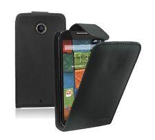 NERO Flip Case Cover Custodia per Motorola Moto X2, X +1 (2014 2nd Gen)