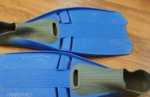 Sport Divers Full Foot Fins US Size 6 7 - EU 39-40 Scuba Dive, Snorkel, Blue