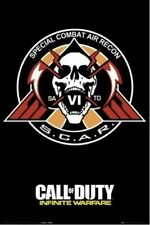 CALL OF DUTY INFINITE WARFARE ~ S.C.A.R. LOGO/TATTOO 24x36 Video Game Poster