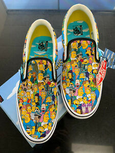 Vans The Simpsons Limited Edition Slip On Springfield Men's 11 Shoes New in Box