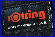 ROTRING 1980's sales representative fountain pen, ballpoint, pencil pouch