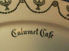 Vtg Calumet Cafe SYRACUSE St Elmo China Restaurant Ware Oval Dish Platter Plate