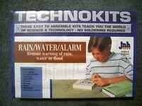 Unbuilt SCIENCE electronics PROJECT KIT set RAIN - WATER ALARM model toy lab