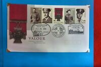 2000 FOR VALOUR VICTORIA CROSS FDC  5 stamps 3 DIFFERENT RELEVANT  POSTMARKS