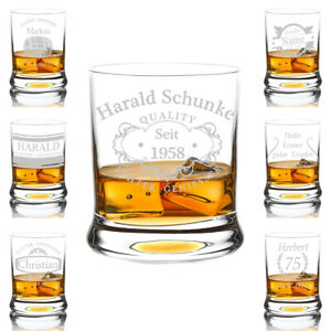 Leonardo Whisky Glass Engraved Whiskybecher Personalised Gift Drinking Glass