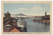 S.S. QUEBEC Canada Steamship Lines Terminal MONTREAL Harbour QC 1946 PECO