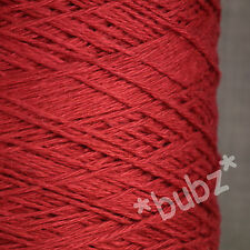 SOFT 4 PLY LINEN VISCOSE YARN 500g CONE 10 BALLS SCARLET RED KNIT CROCHET WEAVE