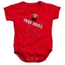 SESAME STREET Elmo FREE HUGS Snapsuit Baby Romper 6 - 24M