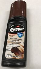 3 Pack Nugget Liquid Wax Shoe Polish Special Oil for Leather (Brown)