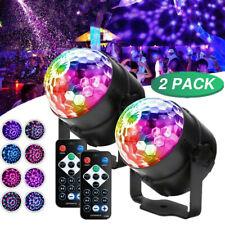 2xLED Discokugel DJ Lichteffekt Xmas Party Dekoration Club RGB Bühnenbeleuchtung