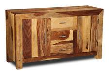 Living Room Furniture Cube Light Sheesham Large Sideboard (c6l)