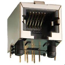 Modular Buchse RJ11 RJ12 RJ14 RJ25, 6P6C geschirmt Modularbuchse Print AMP 2St.