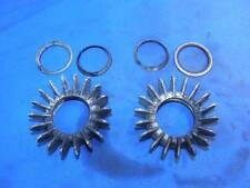 Early 1970's BMW /5 finned exhaust head clamps with sealing washers     B132