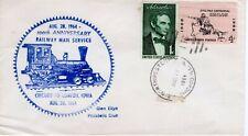 RAILWAY MAIL SERVICE, CHICAGO TO CLINTON, IOWA, CHICAGO, ILL  1964   FDC8676