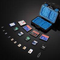 27-in-1 Memory Card Cases Holder Waterproof for SD MicroSD CF TF SIM Storage Box
