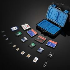 27-in-1 Waterproof Memory Card Holder Case SD MicroSD CF TF SIM Storage Box AAA+