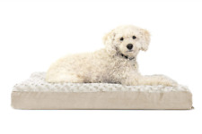 "Deluxe Orthopedic Pet Bed Mattress for Dogs & Cats Medium Cream 20-""x 30""x3"""
