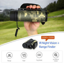 Boblov 500M Range Finder IR Night Vision Monocular 6xZoom Golf Telescope Hunting