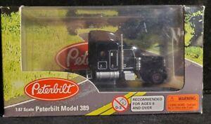 Norscot 1:87 Scale Models Peterbilt Model 389 #61106 black. Our # u355