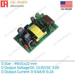 Double Road 15V 5V 10W Switching Power Supply Buck Converter Step Down Module
