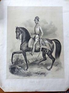 Porträt Kaiser Franz Joseph I Österreich Pferd Schönbrunn Litho selten, um 1850