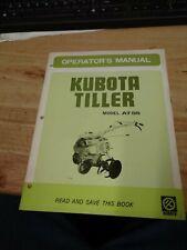 Original Oem Kubota At55 Tiller Manual J 1938