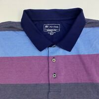 Jos a Bank Leadbetter Golf Polo Shirt Mens XXL Multicolor Stripe Short Sleeve