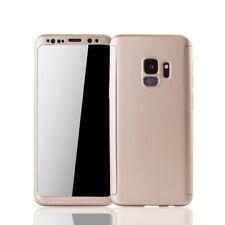 Samsung Galaxy S9 funda de Móvil carcasa Protección 360 Full-cover protector oro