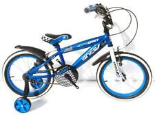"IGNITE 16"" TEAM SPIRIT BOYS BIKE WITH STABILISERS BLUE"