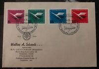 1955 Frankfurt Germany Airmail Advertising Cover Lufthansa Cancel