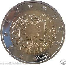 Pieza 2 euros conmemorativo LITUANIA 2015 - 30ème aniv. de bandera Europeo UNC