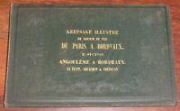 KEEPSAKE ILLUSTRE DU CHEMIN DE FER DE PARIS A BORDEAUX 3e section 1854 Aquitaine