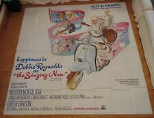 THE SINGING NUN 1966 ORIGINAL 6 SHEET CINEMA FILM POSTER VESPA Debbie Reynolds