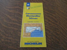 carte routiere michelin n° 83 carcassonne-montpellier-nimes