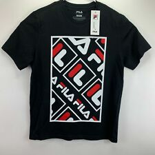 Fila Mens Adao Graphic Crewneck T-Shirt Black M