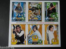 TOPPS STAR WARS FORCE ATTAX UNIVERSE PROMO SHEET
